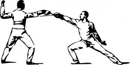 Fencing clip art