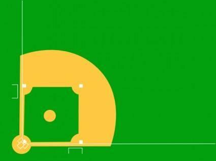 free vector Baseball Diamond clip art
