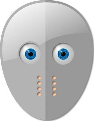 free vector Hockey Mask And Eyes clip art