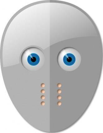 Hockey Mask And Eyes clip art