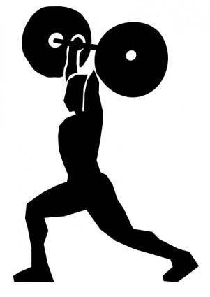 Weight Lifting clip art
