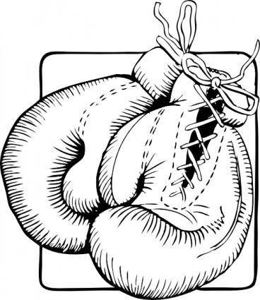Boxing Gloves Outline clip art