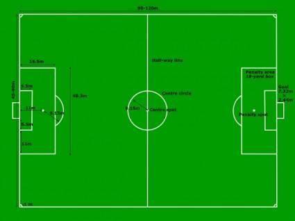 Football Pitch Soccers Field Measurements clip art