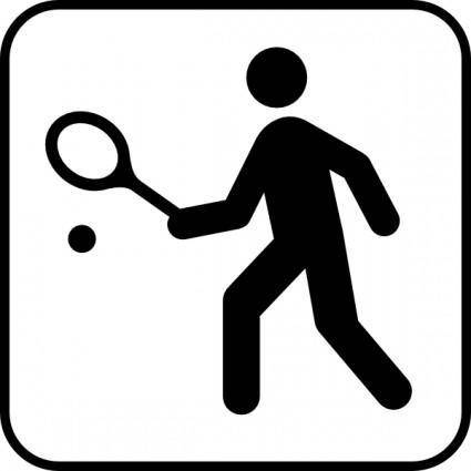 free vector Tennis Or Squah Courts clip art