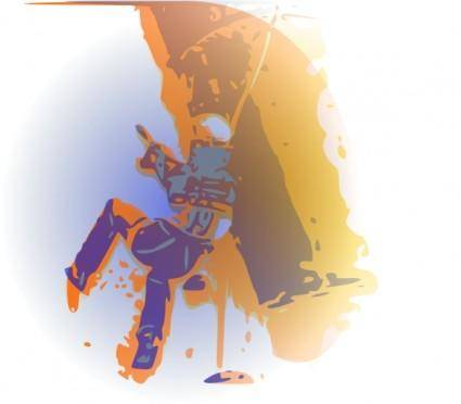 Extreme Mountain Climber clip art