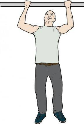 free vector Chin Up Man clip art