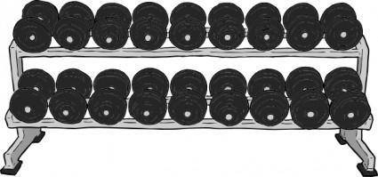 free vector Dumbell Rack clip art