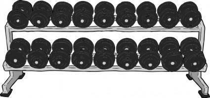 Dumbell Rack clip art