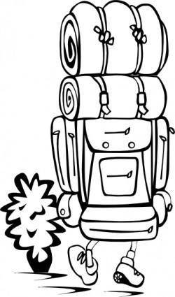 free vector Backpacker clip art