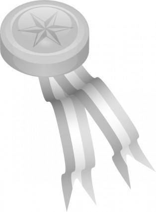 free vector Silver Medallion clip art