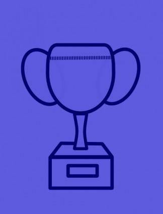 free vector Blue Prize Cup clip art