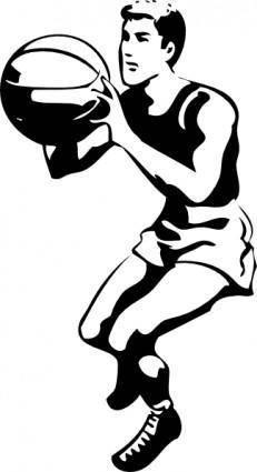 free vector Basketball Player clip art