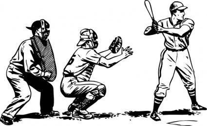 Baseball At Bat clip art
