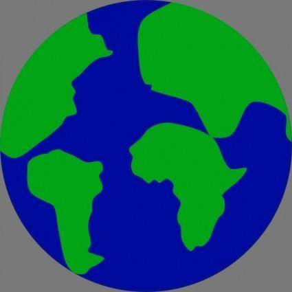 Jonadab Earth With Continents Separated clip art