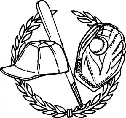 free vector Baseball Crest clip art