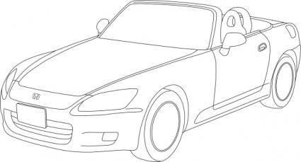 Honda S2000 Outline clip art