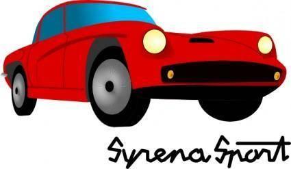 Syrena Sport clip art