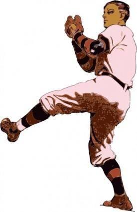 free vector Baseball Pitcher clip art