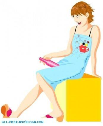 Free fashion vector 418