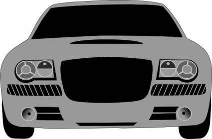 Grey Sports Car clip art