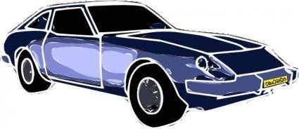 free vector Blue Car clip art