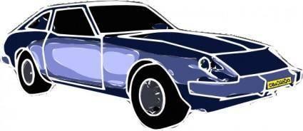 free vector Blue Car clip art
