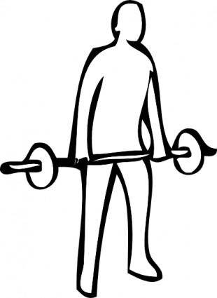 free vector Weight Lifting clip art