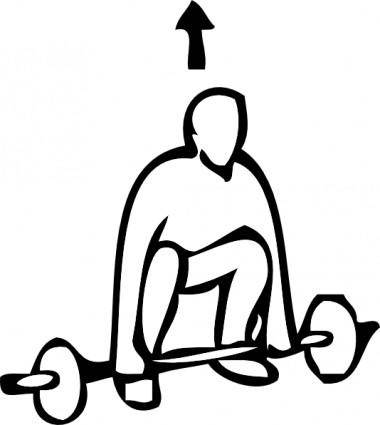 Weight Lifting Outline Sports clip art