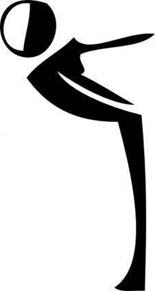 free vector Gymnastics Aerobics clip art