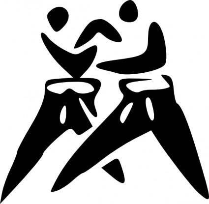 free vector Judo clip art