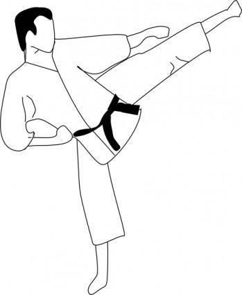 free vector Karate Kick clip art