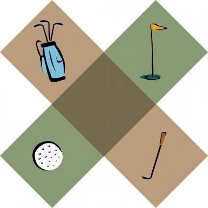 free vector Golf Symbols clip art