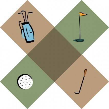 Golf Symbols clip art