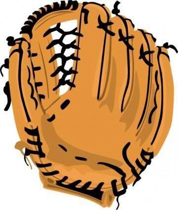 free vector Baseball Glove clip art