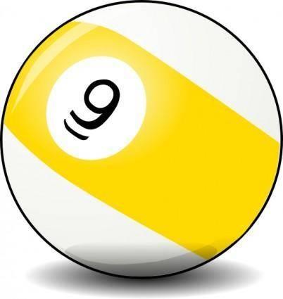 free vector 9 Ball clip art