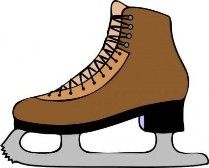 free vector Ice Skate Shoe clip art