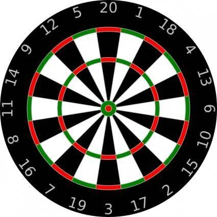 free vector Dartboard clip art