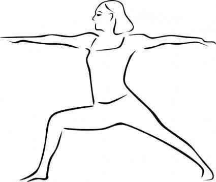 Stylized Yoga Person clip art