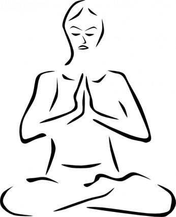 Stylized Yoga Person clip art