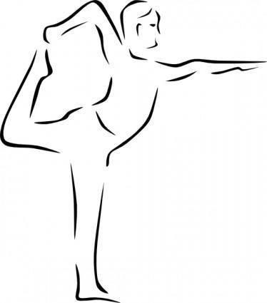free vector Stylized Yoga Person clip art