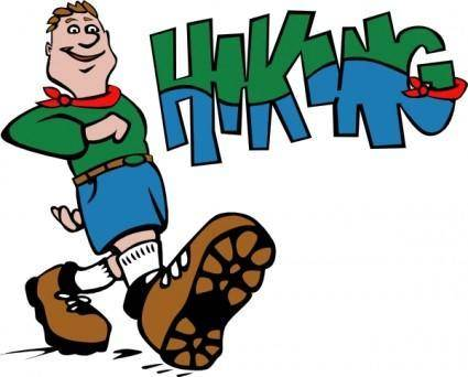 Hiker Hiking clip art