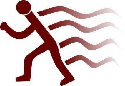 Runner, Simple, With Wake Marks clip art