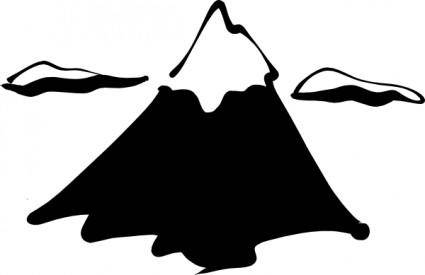 Sneptune Mountain In Ink clip art