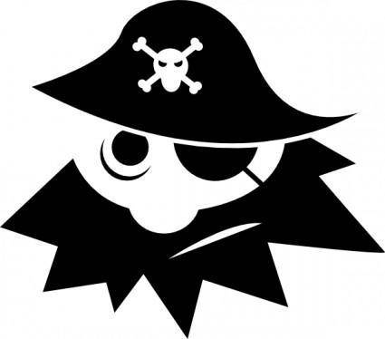 Pirate With Eye Cover clip art