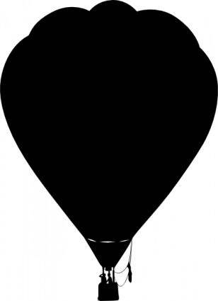 Clue Hot Air Balloon Outline Silhouette clip art
