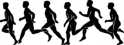 Running Exercise clip art