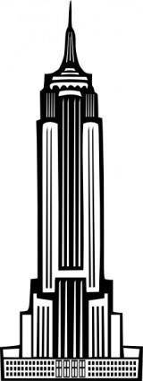 free vector Boort Art Deco Empire State Building clip art