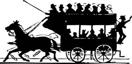 Horse Drawn Doubledecker clip art