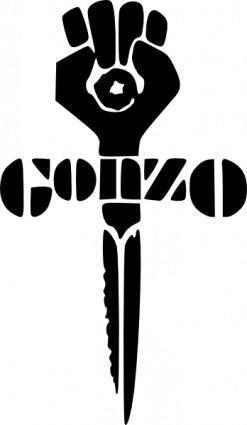 Gonzo Fist Sword clip art