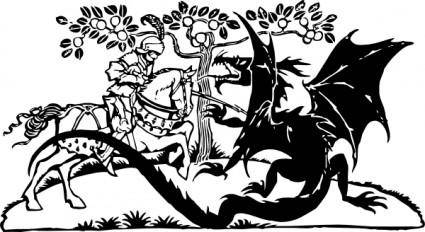 St George And The Dragon clip art
